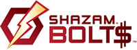 Shazam Bolt$ Logo with Lightening Bolt